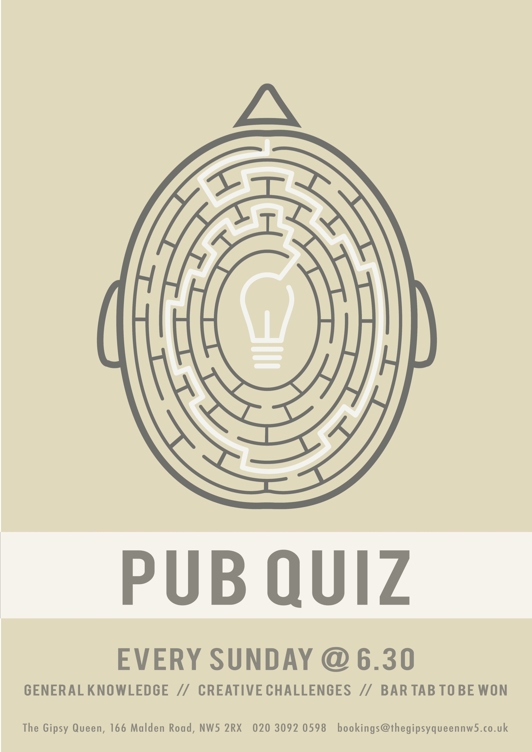 Sunday Quiz Poster